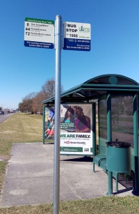 Bus Stop Placard Signs